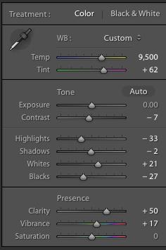 Clarity settings