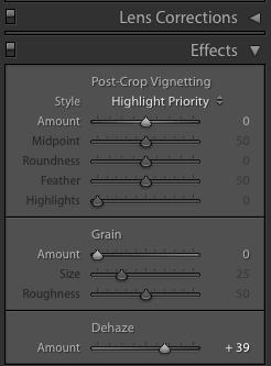 Adobe Dehaze adjustment