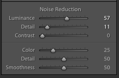 Luminance noise adjustment