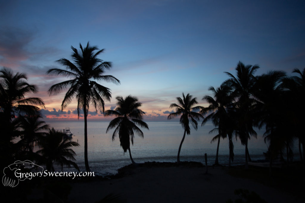 sunset at Chinchorro Atoll