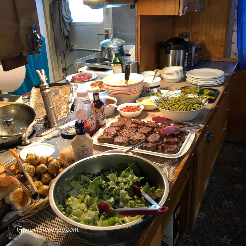 Tasty meals served on board