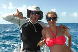 Benoit and Daughter on Dolphin Swim  trip